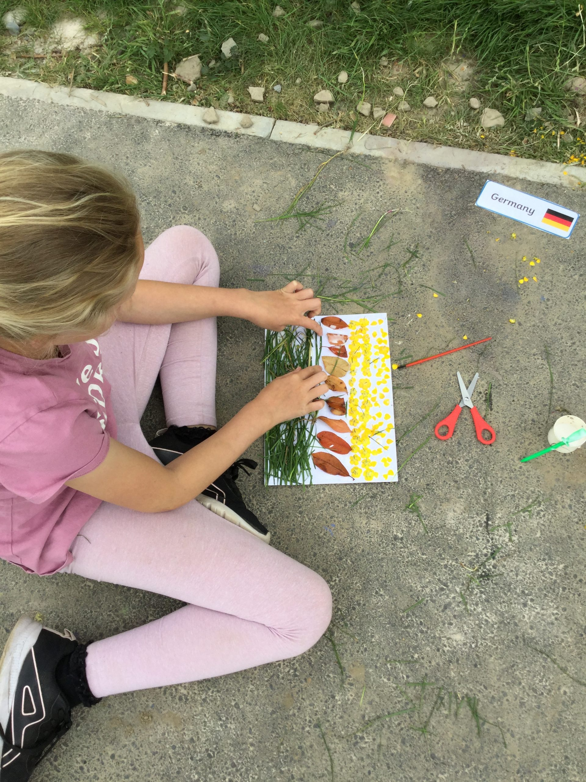 Making flags out of natural resources