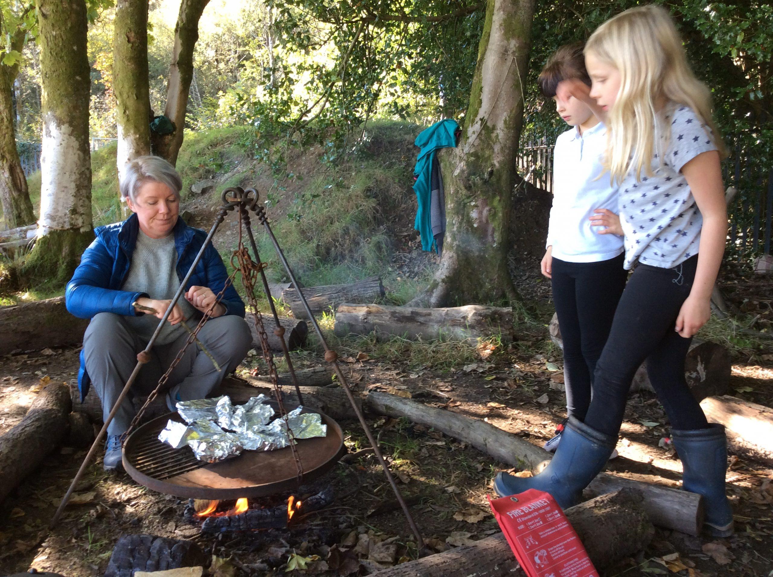 End of term woodland celebrations